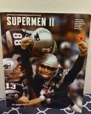 New England Patriots Supermen II Special Collector Book w/free Larry Bird poster