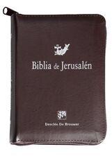 Biblia de Jerusalen Tamaño Bolsillo Simil Piel con Cremellera/Cierre Catolica