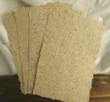 4 Sheets of Handmade Paper - 8.5 in x 5.5 in - charming, vintage, antique look!