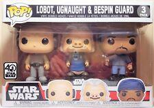 Funko Pop 3 Pack Star Wars Lobot, Ugnaught & Bespin Guard Brand New