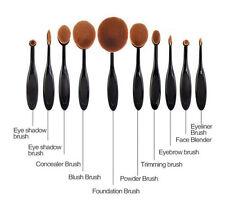 10 PRO SET 2018 Makeup Brushes Toothbrush Oval Foundation Concealer Blending Hot