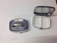 Austin 1100 Mk 3 ref9 pewter effect car emblem on silver metal pill box