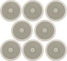 "8x Blanc En-Plafond Mur Haut-parleurs 6.5"" 50 W RMS directionnel Tweeter Adastra .534"