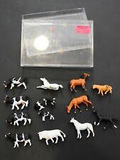 Preiser - Tiere  - 6 Pferde - 6 Kühe - 1 Stier - Modellbau - H0? (188)