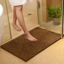 Shaggy Microfibre Bathroom Shower Bath Mat Rug Carpet Non-Slip Backing 60x40cm