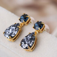 Kate Spade Glitter Squared Multicolor Navy Blue Crystal Teardrop Earrings w/ Box