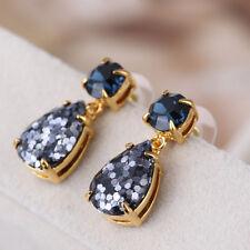 Kate Spade Glitter Squared Multicolor Navy Blue Crystal Teardrop Drop Earrings