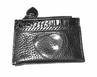 Genuine BRIGHTON Small Black Leather with ID window Coin Purse - Mint!!
