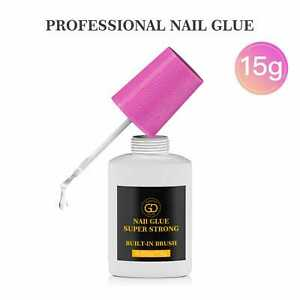15g Nail Glue With Brush ✅ EXTRA STRONG ✅ Professional False Nail Tips Quick GD