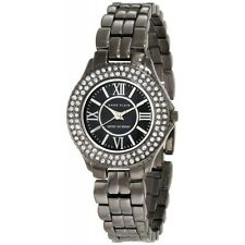 Anne Klein 10/9537GMGY Women's Swarovski Crystal Accented Gunmetal Tone Watch