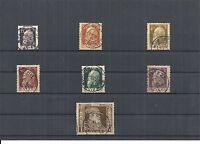 Bayern 1911, Einzelmarken aus Michenummern: 80 - 86 II o, gestempelt,zur Auswahl