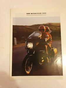 Bmw motorcycles 1992 brochure