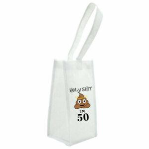 50th birthday Holy Shit*poo emoji wine bag! birthday gift for her/him/wine gift
