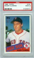 Roger Clemens Red Sox 1985 Topps #181 Rookie Card rC PSA 9 Mint QTY