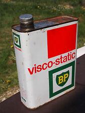 Ancien bidon d'huile en métal - BP - Visco Static - 2 Litres