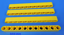 Lego technique NR- 6028107/11 trou jaune Barres à trous - Liftarm / 4 pièces