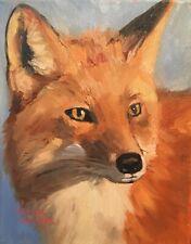 Norma Wilson Original Fox Wild Animal  Portrait Painting Art