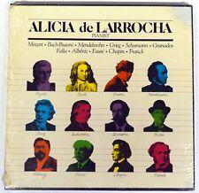 "Alicia De Larrocha – ""Music By Mozart, Chopin…"" SEALED BOX SET – 12"" Classical"