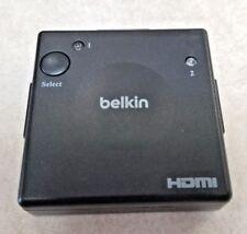 BELKIN HDMI SWITCH 2-WAY FOR BLU RAY HD-DVD TV HDTV Used AV10115