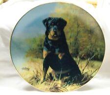 1992 Rottweiler Dog Hamilton Collection Plate Faithful Friend Coa Nr