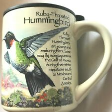 American Expedition Travel Mug Ruby Throated Hummingbird Stoneware Cup 14 Ounce