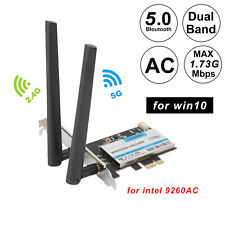 9260ac Dual Band 2.4G/5G 1730Mbps WiFi Bluetooth 5.0 PCIE 1X 16X Card for Win10
