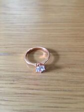 Engagement Classic Bridal Wedding Rose Gold Plated Solitaire Ring P