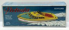 Schylling China Tin Litho Clockwork Wind-up Victoria Action Boat Mint Sealed
