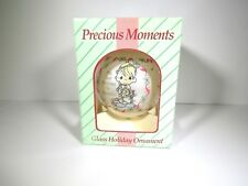 Rare=Vtg=1994=Precious Moments Ornament=Handblown Glass/Illistrated-Sam Jbutcher