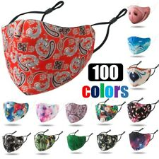Reusable Washable Breathable Pattern Print Neoprene Cloth Face Mask Covering