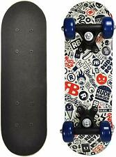 Fissut 17 Inch Mini Wooden Cruiser Graphic Beginner Kids Skateboard