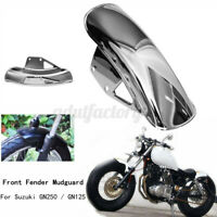 Motorcycle Chrome Front Sand Guard Fender Mudguard Mud For SUZUKI GN125 GN250