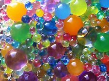 10 Bags ( 4000+pcs) Sensory Bin Filler Rainbow Jelly Soil Beads Party Water Toy