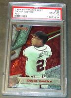 1994 BOWMAN'S BEST DAVID JUSTICE #63 PSA 10 BRAVES   POP 1/6!!