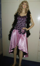 Ladies Saloon Girl Can Can Burlesque Western Lavender Fancy Dress Costume 10/12