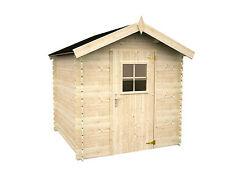 ca. 200x200 cm Gerätehaus Winnipeg Gartenhaus Holz 19mm Schuppen Blockhaus WW-96