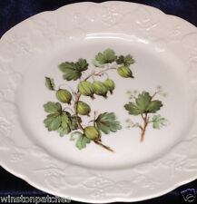 "LIERRE SAUVAGE CNP FRANCE SALAD DESSERT PLATE 8"" GRAPES EMBOSSED VINE RIM"
