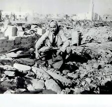 1956 Wire Photo Arab at his Port Said bombed out home from Operation Musketeer