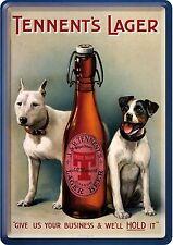 Nostalgic Art Tennents Lager Beer Bier Hunde Terrier Blechpostkarte #