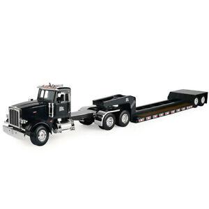 ERTL Big Farm Peterbilt Model 367 Semi Vehicle/Truck w/ Lowboy Trailer Toy Black