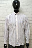 Camicia LA MARTINA Uomo A Righe Taglia Size L Maglia Shirt Man Camicetta Maglia