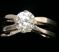 Vintage Sterling Silver Ring 925 Size 9.5 dq CZ Diamonique Band
