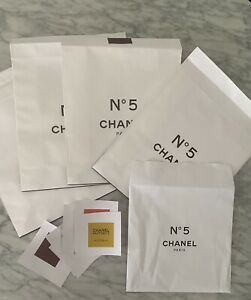 LIMITED EDITION CHANEL NO 5 FACTORY 5 COLLECTION PACKAGING PAPER BAGS & STICKERS