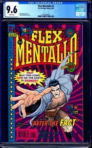 Flex Mentallo #1 CGC 9.6 WHITE DC VERTIGO LOW PRINT RUN KEY BOOK NM+