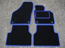 Car Mats en Negro/azul ajuste para caber VW/VOLKSWAGEN TIGUAN (2007-2016)