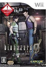 Used Wii Biohazard 0 Capcom Nintendo JAPAN JP JAPANESE JAPONAIS IMPORT