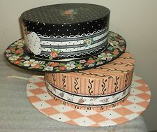 Michel & Co. Mary Engelbreit Lot 2 Hat Boxes Mint!