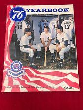 1976 Detroit Tigers Yearbook 75th Anniversary Baseball Program Magazine