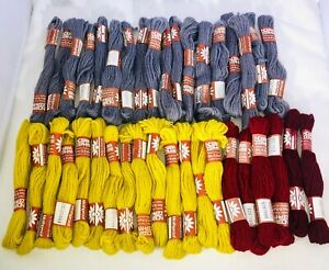 Lot of 38 Nostra Zephyr Tapestry Needlepoint Wool Skeins Denmark 4 Colors