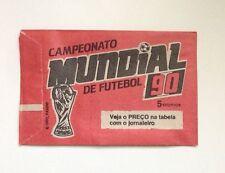 Panini 1990 Italia World Cup Campeonato Mundial Futebol BRAZILIAN Sticker Packet